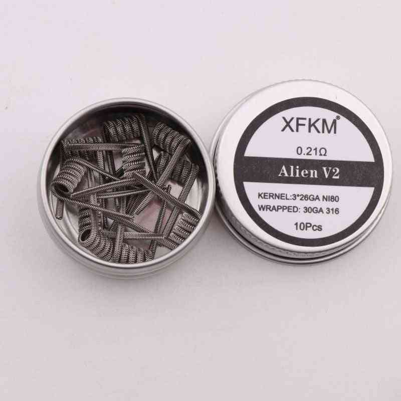 High Density, Prebuilt, Nichrome Heating Coil For Electronic Cigarette