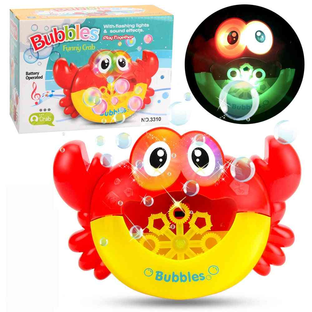 Outdoor Bubble Blower Gun, Frog, Crabs Baby Kids Bath Maker