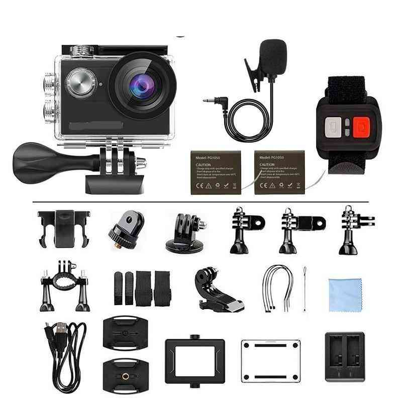 4k And 16mp Support External Mic - Underwater Camera With Wifi Remote Control