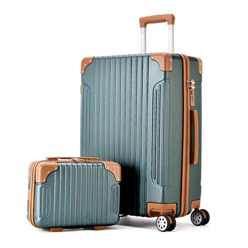 Abs Rolling Luggage Sets Spinner Suitcase Wheels Bags