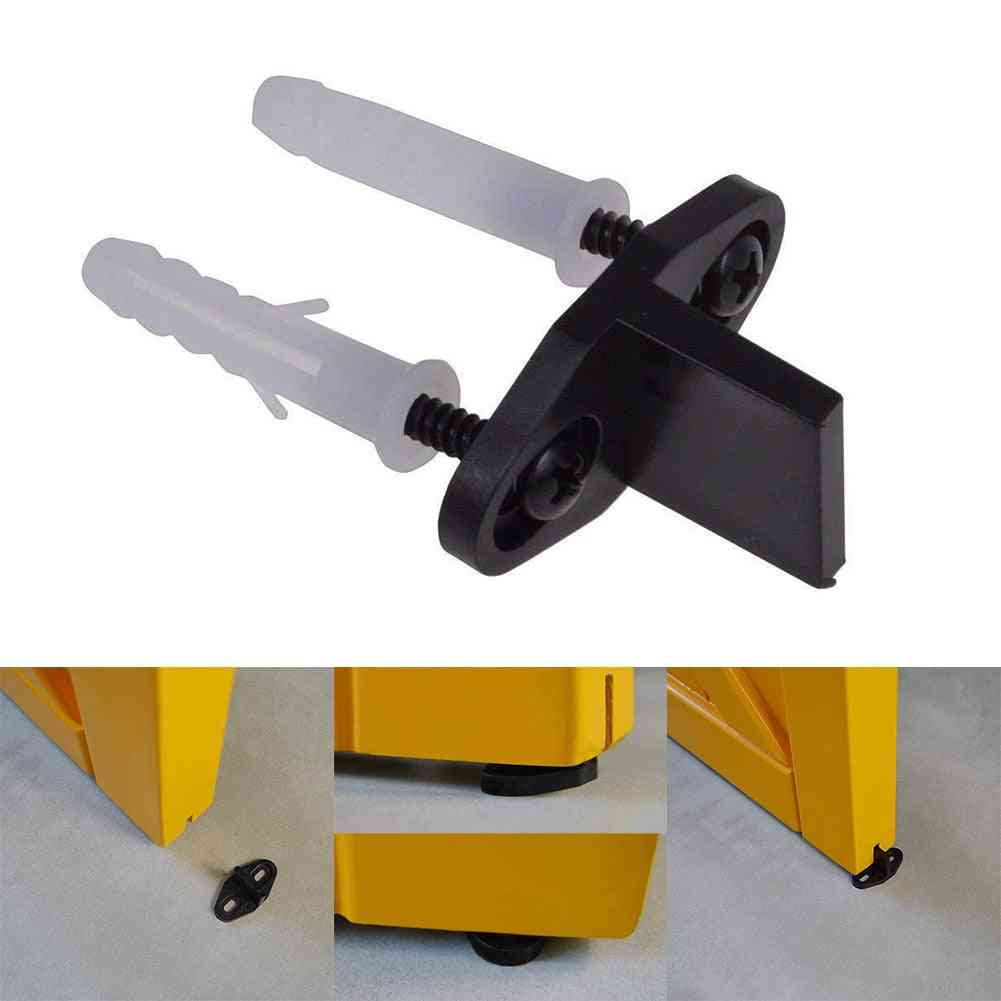 Bottom Floor Guides - Easy Install Wood Door Sliding Durable Clip