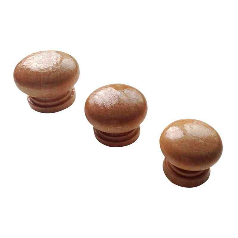 Handles Natural Wooden Cabinet Drawer, And  Wardrobe Knobs For Door