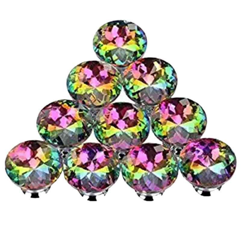 Colorful Crystal Knobs-cabinet Drawer Pulls Handle