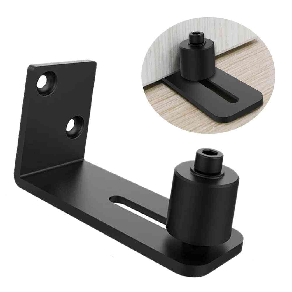 Roller Fixing Floor Guide - Barn Door Sliding With Screws Low Noise Hardware Flush Botton