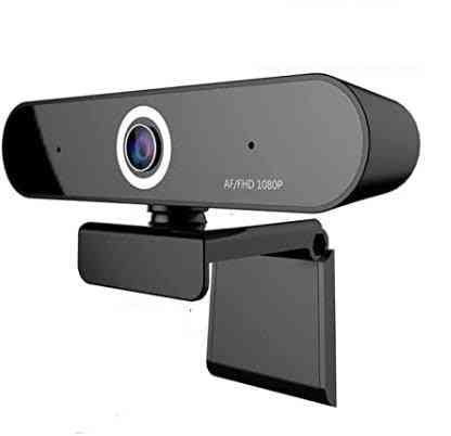 Webcam With Full And Fluid Hd 1080p Video, 2 Digital Microphone And 90 Degree Viewing Angle