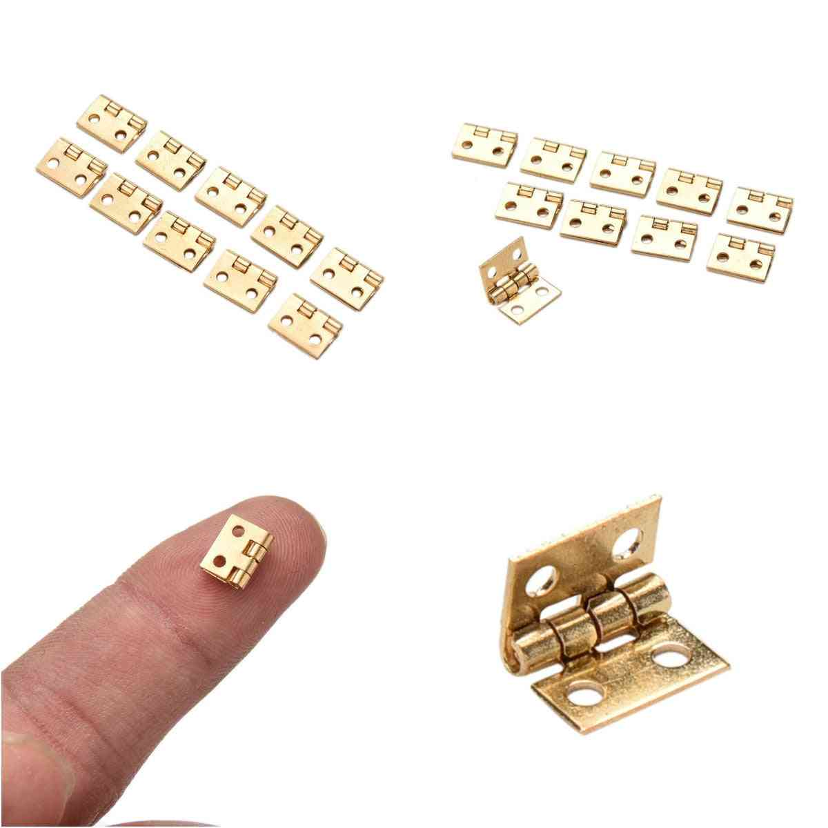 Mini Furniture Hinges For Jewelry Box, Model Making, Doll House And Other
