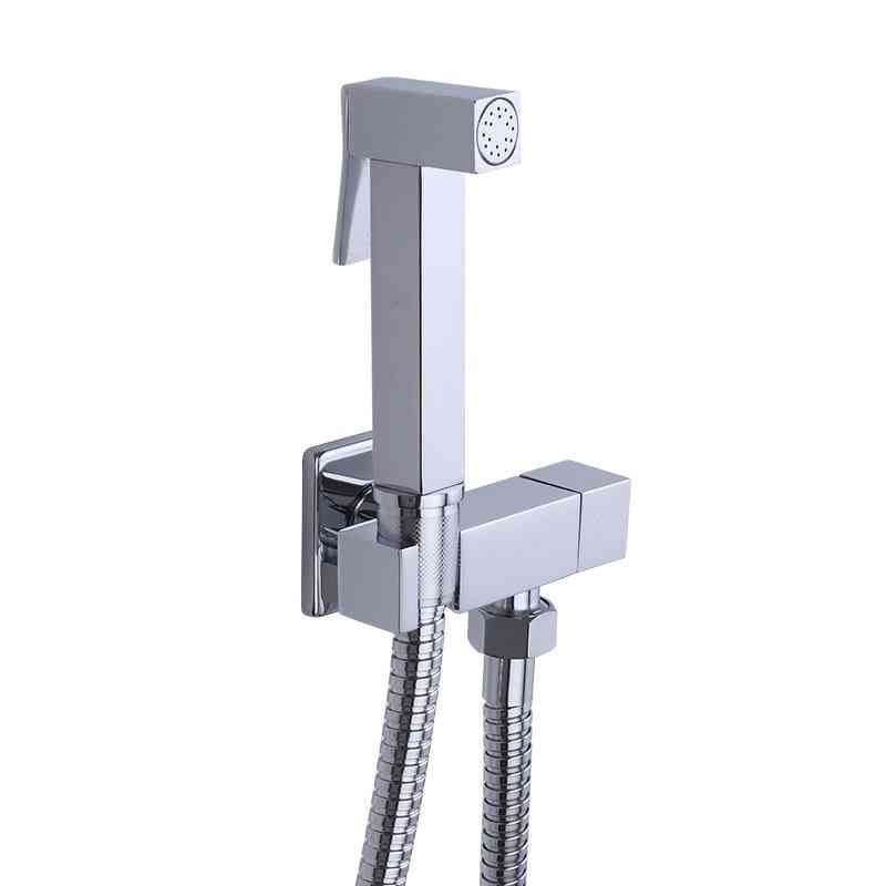 1 Set Of Square/round Shaped-wall Mounted Bidet Faucet