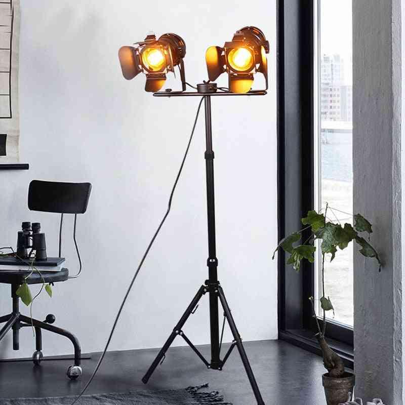Led Retro Tripod Iron Retro Floor Lamp For Dining Room / Bedroom / Living Room