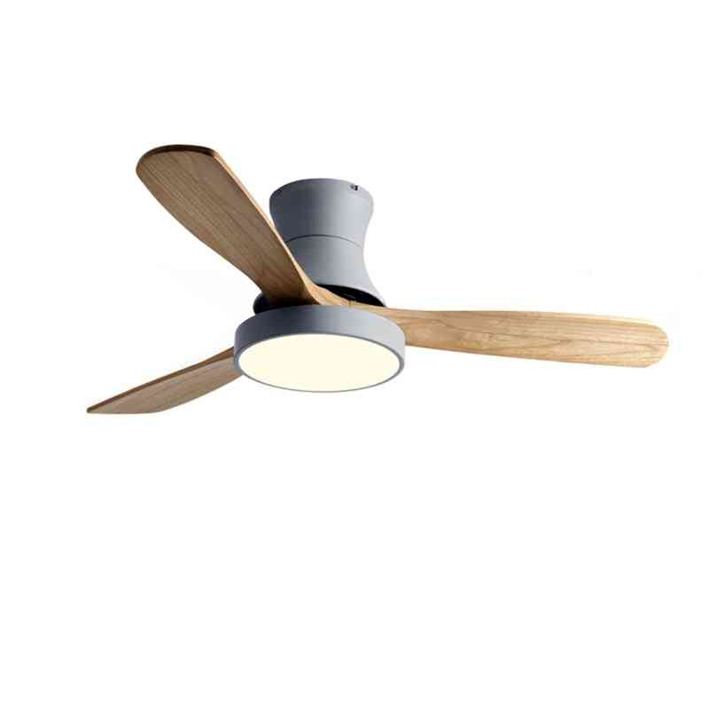 Wood Ceiling Fan With Light- Low Floor Personality Lamp