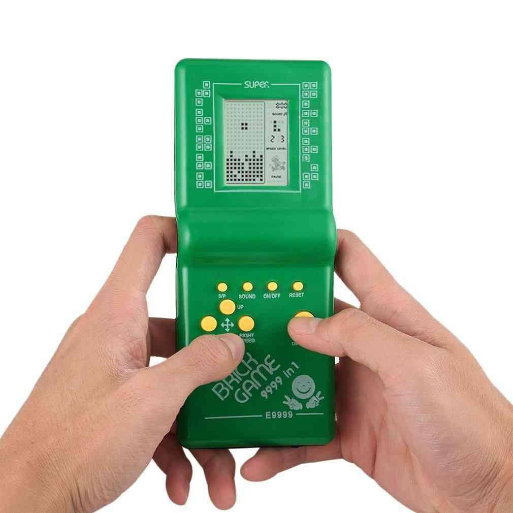 Retro Electronic Tetris Brick, Classic Handheld Pocket Game Machine For
