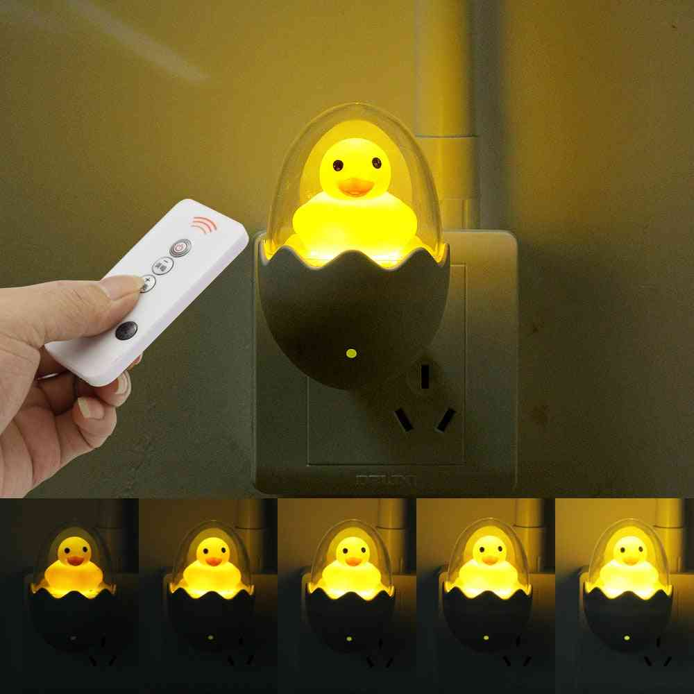 Timing Led Night Light, Yellow Duck Toy