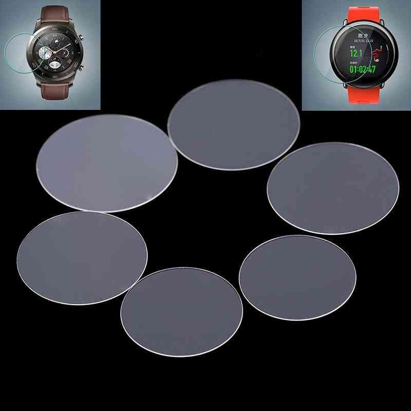 2pack Diameter 34-43mm Universal Round Tempered Glass-protective Film Screen For Watches
