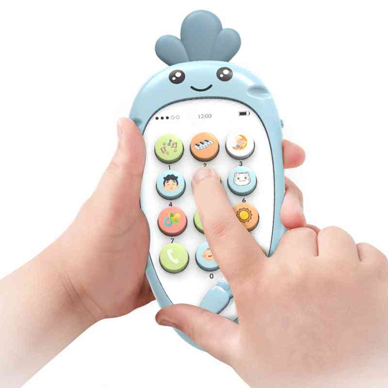 Baby Cellphone Early Education Toy - Music With Teether Practice Learning Mobile Phone Toy Christmas