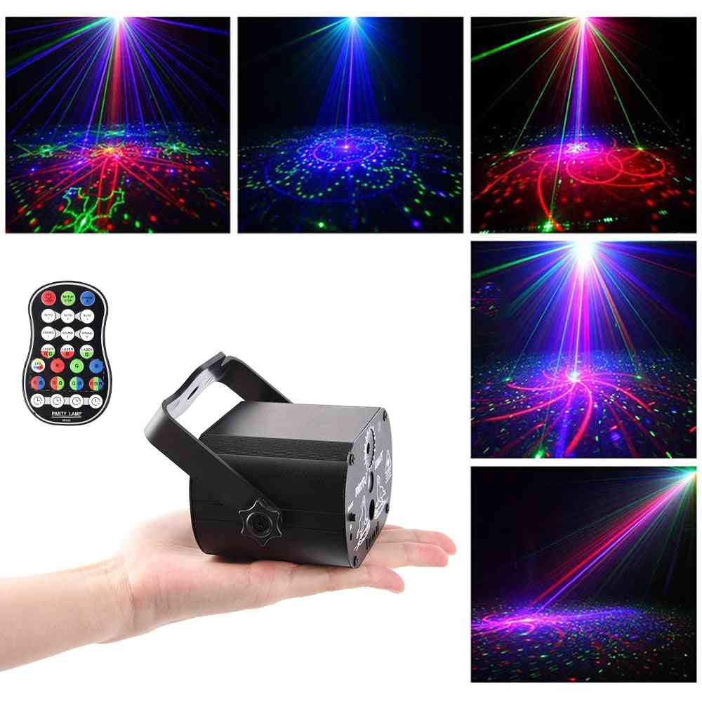 Led Disco Light, Voice Control Music Laser Projector With Controller