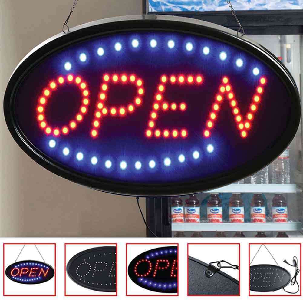 Led Open Sign Bars - Shops & Cafe Show Window Florist Advertising Lights