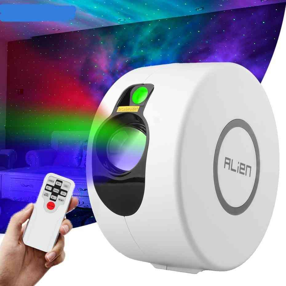 Remote Star Galaxy Laser Projector - Starry Sky Stage Lighting Effect For Bedrooms, Party Night, Holiday Lights
