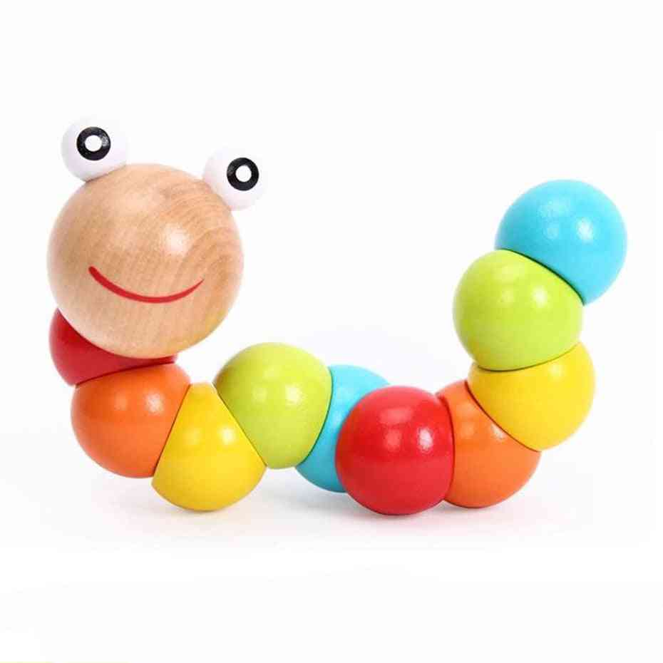 Wooden Twisted Worm Educational For Baby