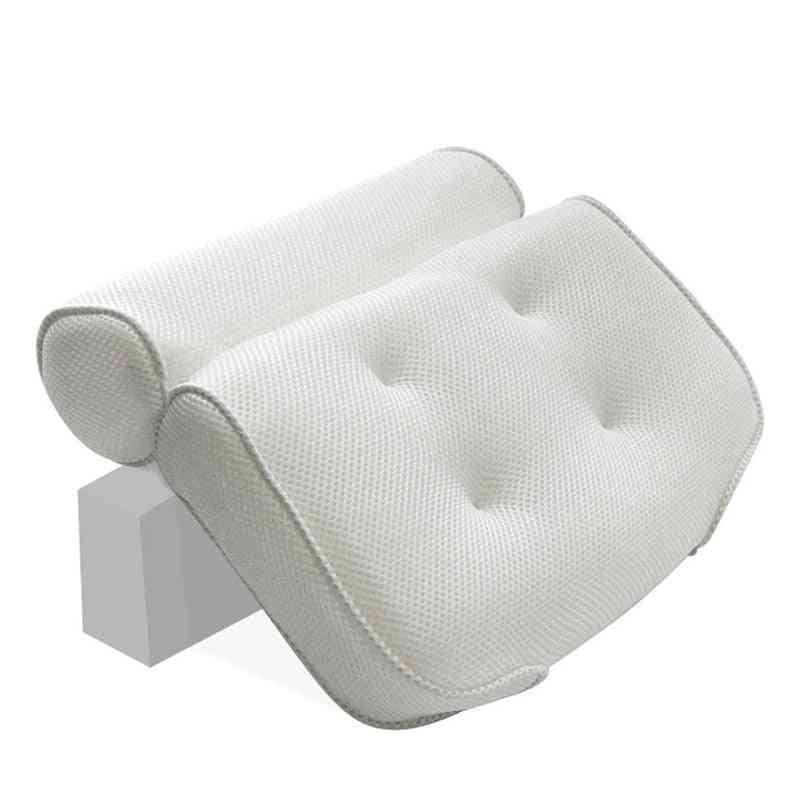 3d Mesh Neck , Back Spa Non-slip Bath Pillow With Suction Cups