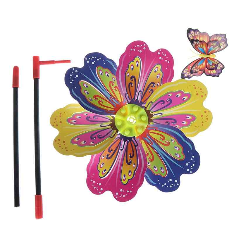 Butterfly Colourful Wind Spinner For Garden Yard Decoration