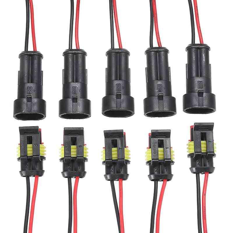 5 Pairs Waterproof Male-female Electrical Connectors Plug, 2-pin Way