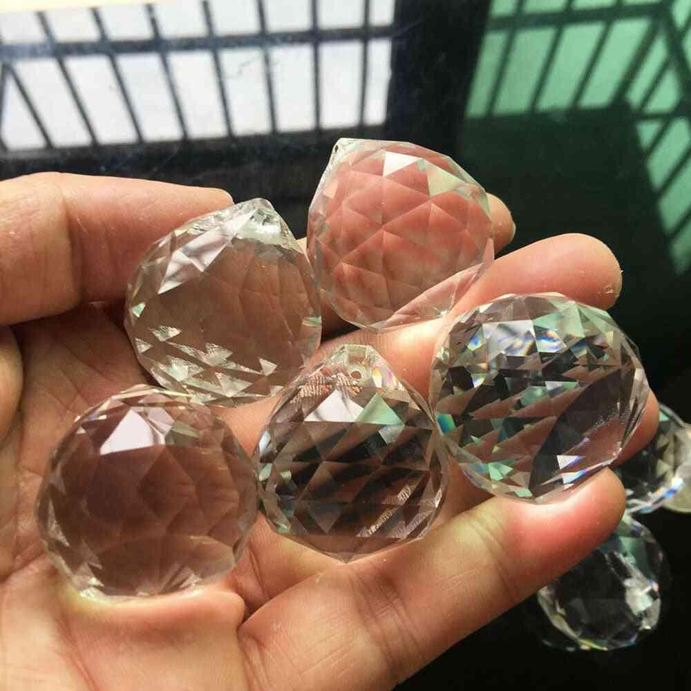 Crystal Glass Ball- Rainbow Suncatcher -prism Faceted Pendant Chandelier
