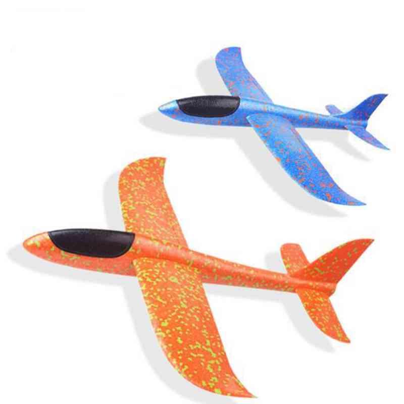 Foam Plane Throwing Glider Toy, Airplane Inertial Foam Epp Flying Plane Outdoor Fun Sports Toys For Children