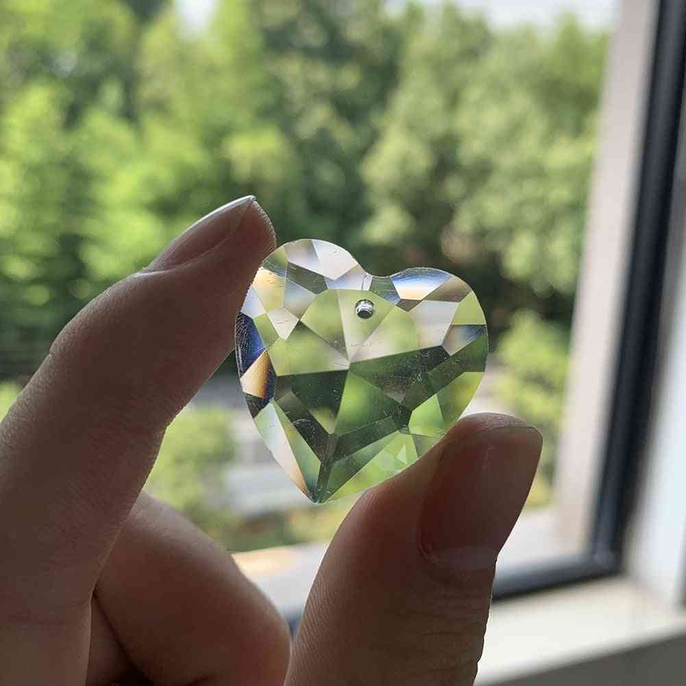 Love Heart Faceted-28mm Glass Crystal