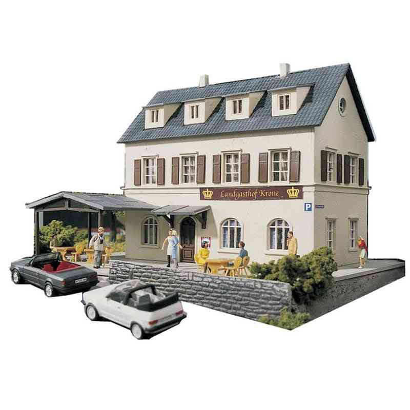Diy 1:87 Town Hotel Architectural-model Assembly