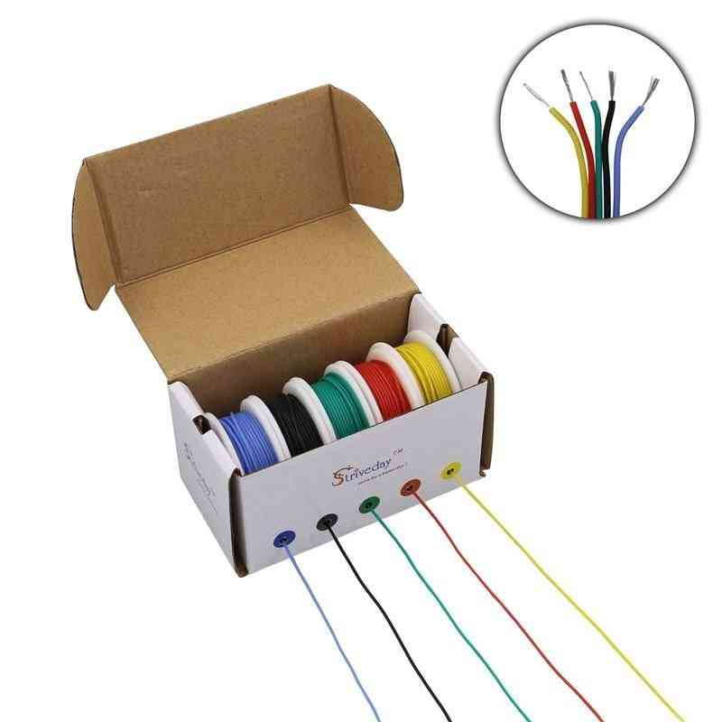 Cable Wire Flexible Silicone With  5 Color Mix