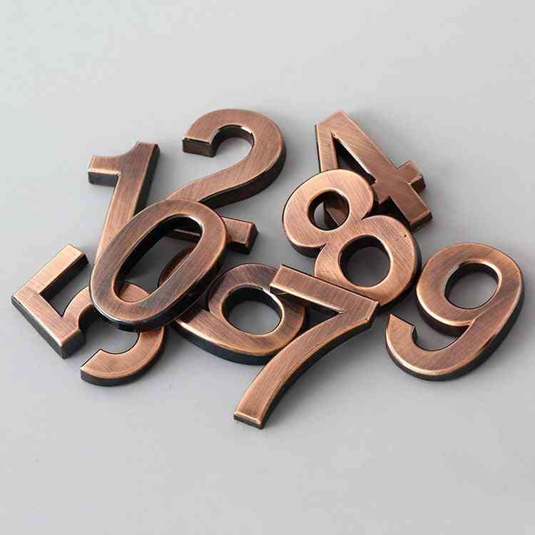 Electroplated, 3d Numeral Digits For Door Plaque, House Address, Drawer Sign
