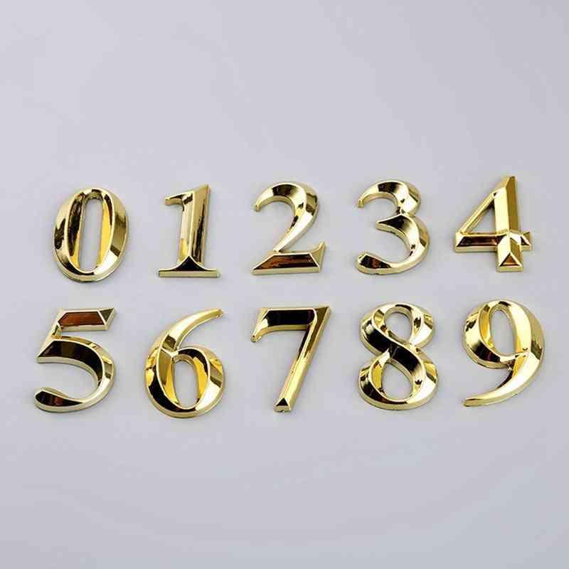 Gate Digits 0-9 Plastic Number Tag Door Plaque - Address Door Label