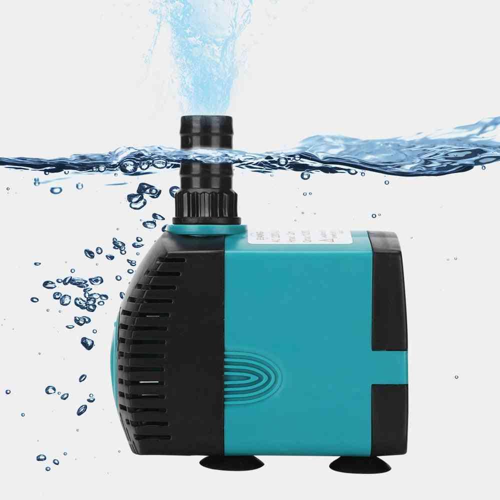 Ultra-quiet Submersible Water Fountain Pump Filter Fish Pond Aquarium Tank