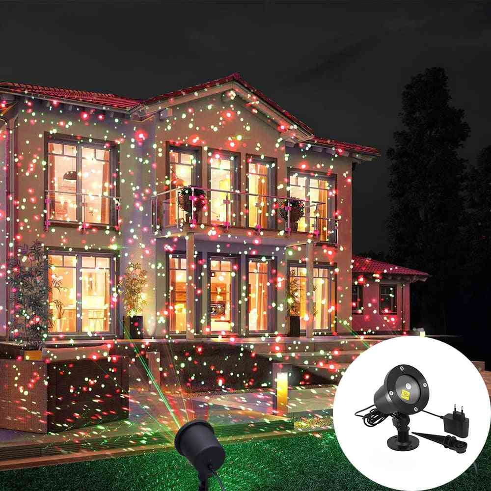 Moveable Laser Projector-landscape Lighting With Ground Stake