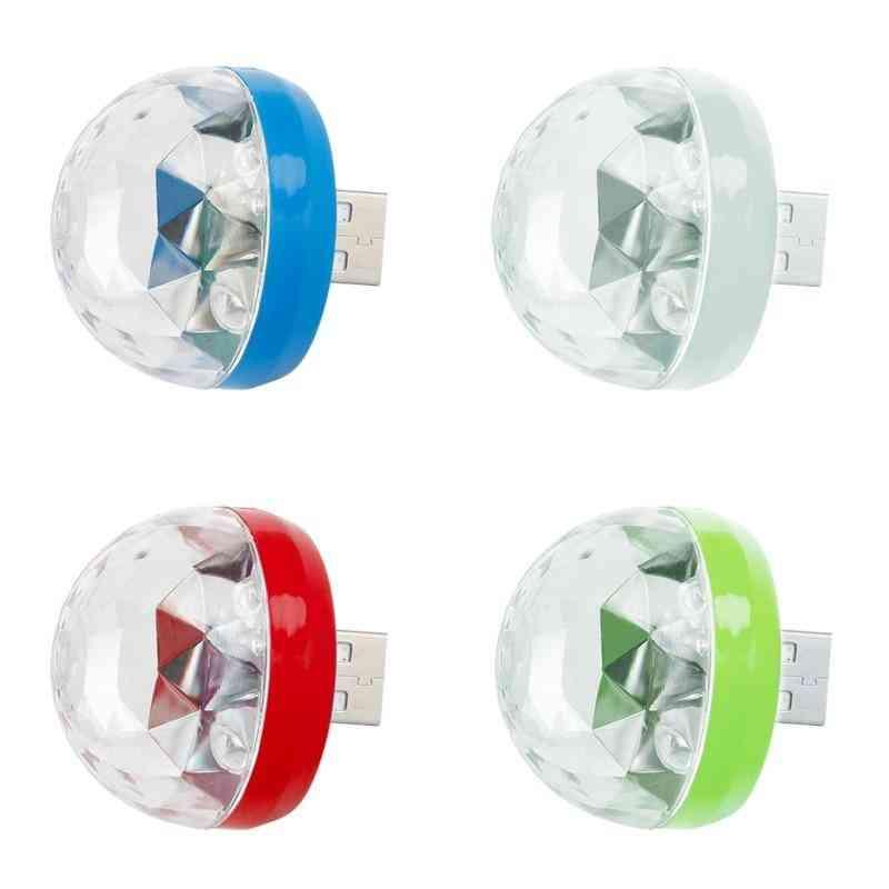 Mini Usb Disco Light Led Party Portable Crystal Magic Ball Colorful Effect Stage Lamp For Home Karaoke Decor