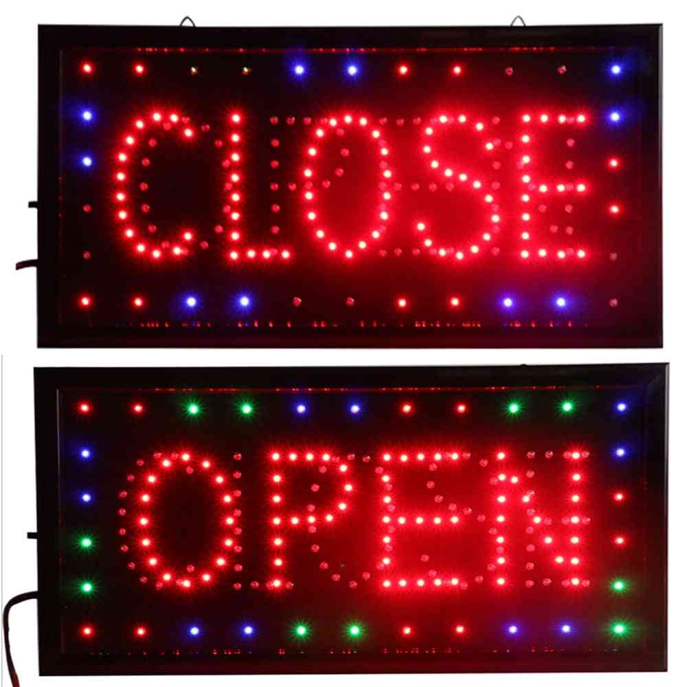Open & Closed Led Sign - Store Neon Business Bar Shop Closed Light