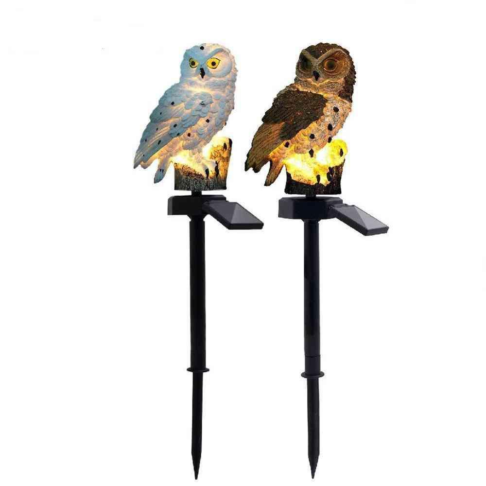 Led Garden Lights, Solar Panel In Owl Shape