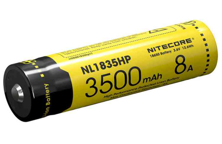 Nl1835hp High Performance 18650 3500mah 3.6v 12.6wh 8a Protected Li-ion Button Battery
