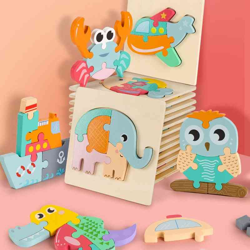 High-quality  3d Wooden Puzzle Educational Toys