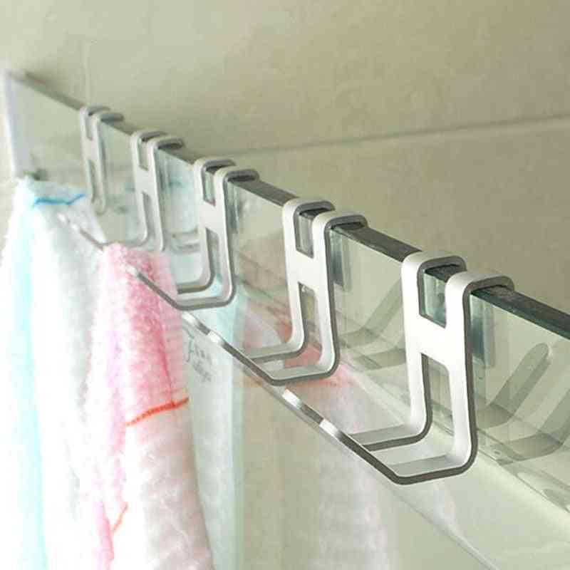H Shape Aluminum Alloy Door Hook -wall Mounted