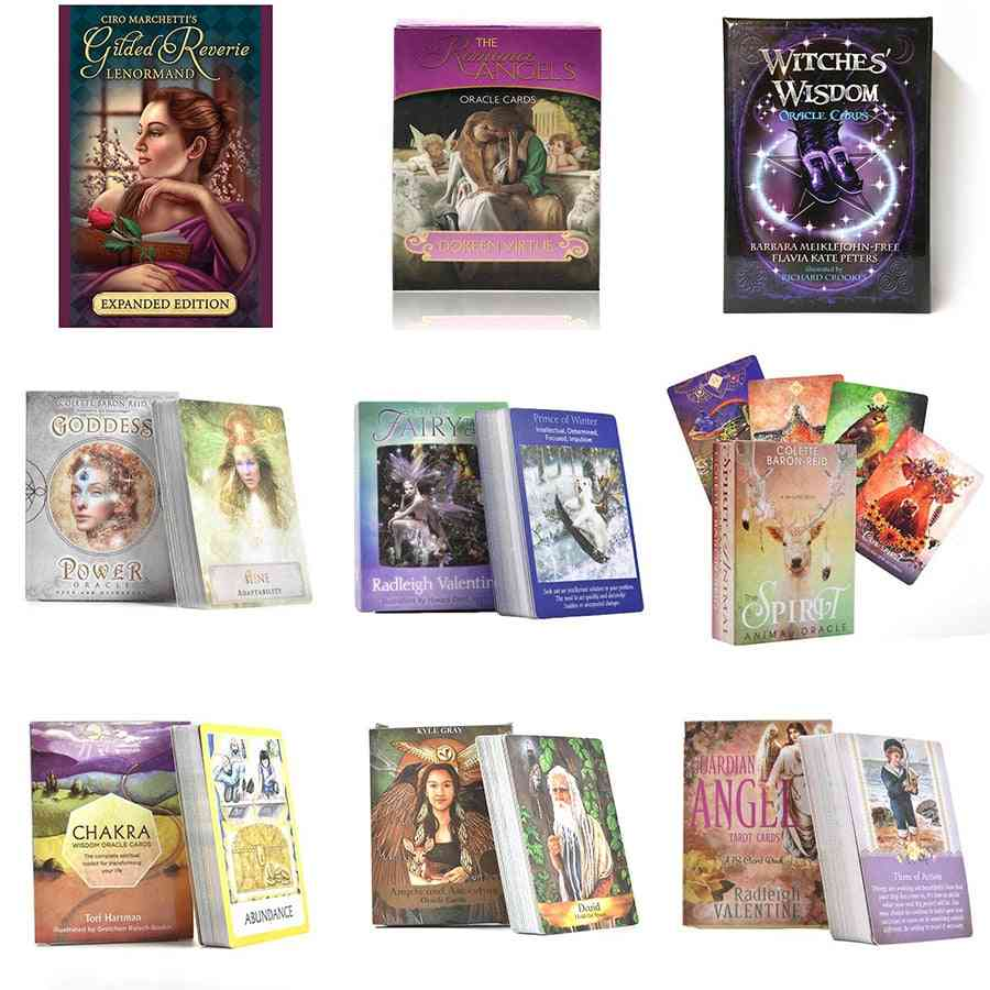 24 Styles Oracle Cards Deck - English - Mythic Fate Divination, Tarot Cards - Games For Family, Holiday
