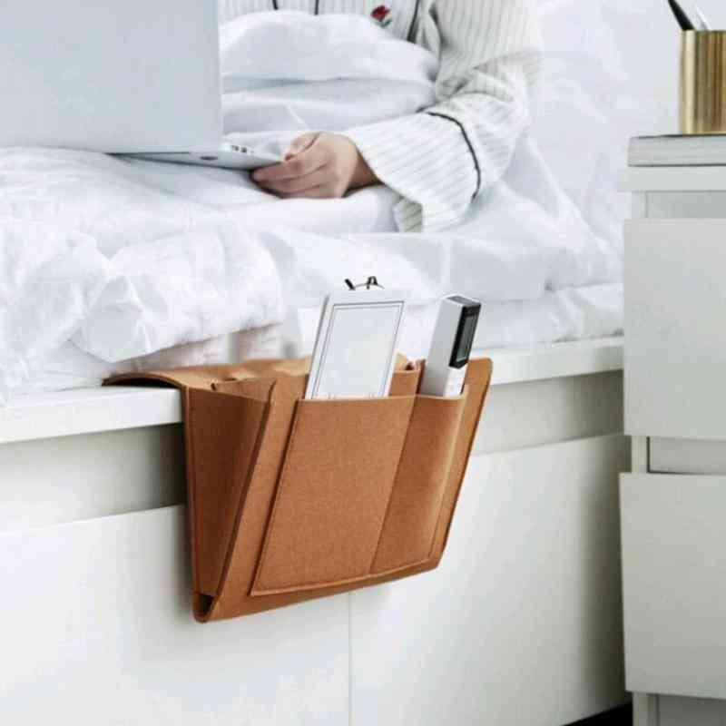 Storage Organizer Felt Bedside Hanging Bags  With 2 Inner Pockets