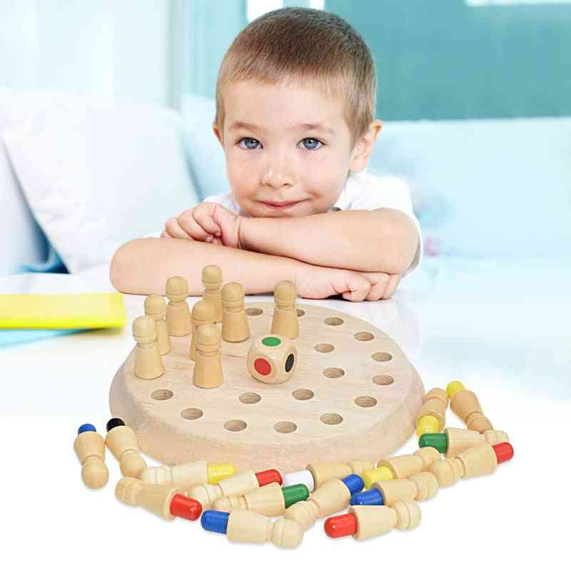 Wooden Memory Chess Game, Match Sticks Block Board-cognitive Ability For
