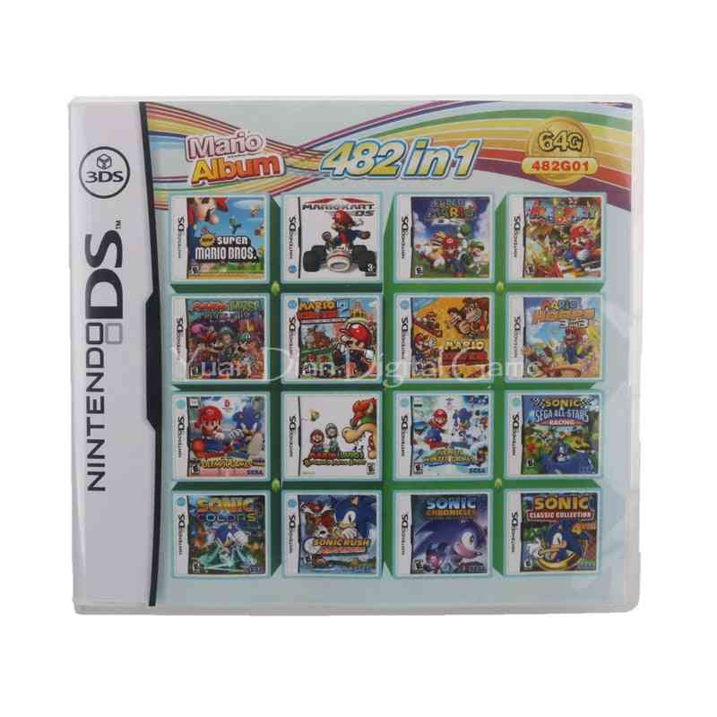 482 In 1 Compilation Video Game Cartridge Card