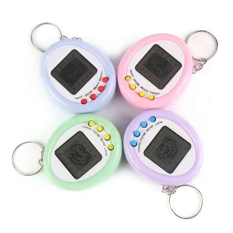 90s Nostalgic Tamagotchi Electronic Keyring - Virtual Pet Toy