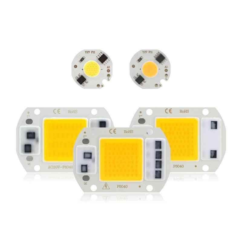 Led Cob Chip 10w/20w/30w/50w/220v, Smart Ic No Need Driver 3w/5w/7w/9w Led Bulb Lamp For Flood-light Spotlight Diy Lighting