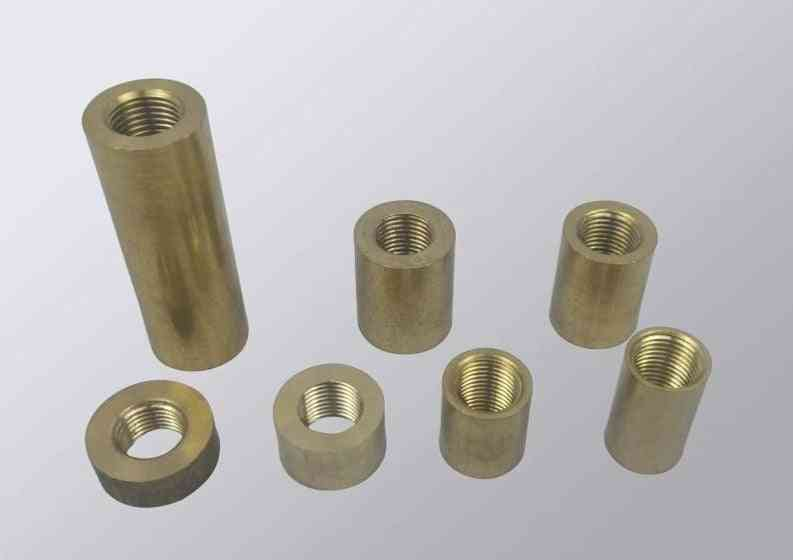 Female Thread Hollow Tube Brass Cylinder, Threaded Coupler Conveyer Brass Lamp Fittings-lighting-accessories