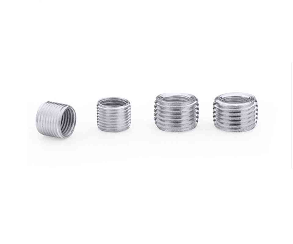 5pieces  Inner Outer Threaded Hollow Tube Coupler Conveyer Sliver-adapter Screw