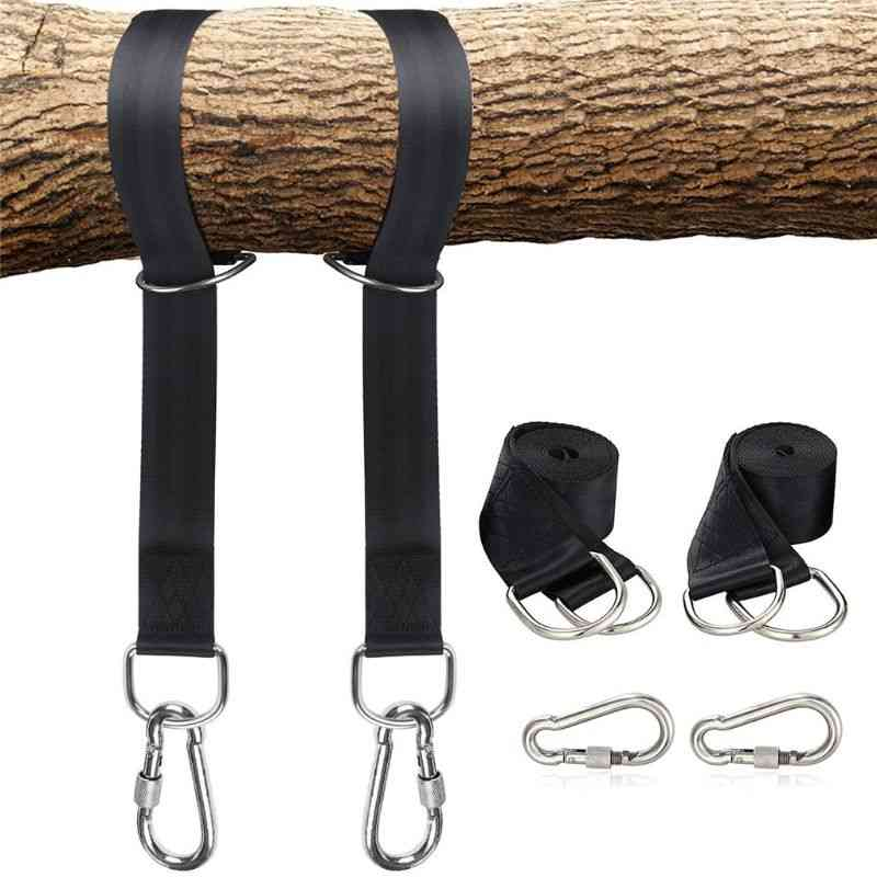 Swing Rope, Tree Hanging Straps Kit With Safer Lock