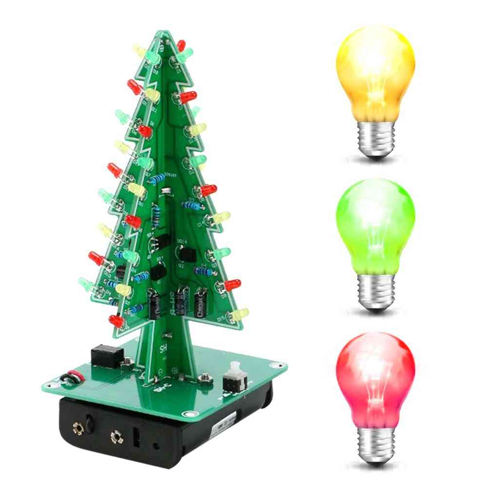 3d Christmas Tree Led Kit With Flash Circuit Parts
