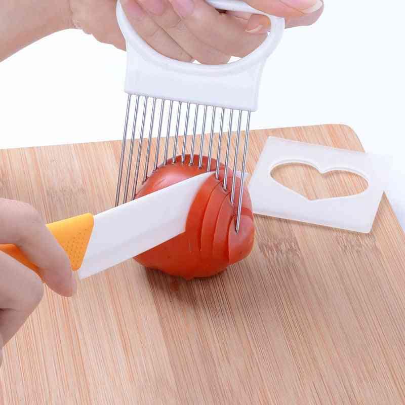 Tomato Onion Vegetables  Slicer Cutting Tool/holder